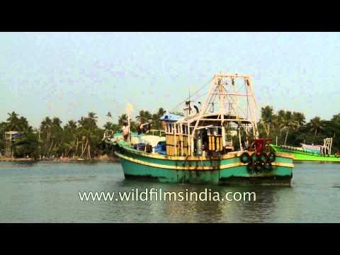 Fishing boat heading towards the Arabian Sea for fishing