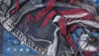 Red, White and Blue Jean 3D Collage - Lesson Plan