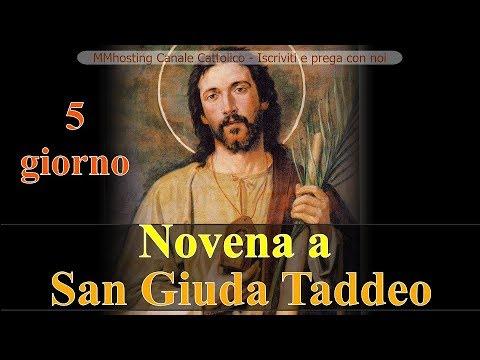 Novena a San Giuda Taddeo -5 giorno - per ottenere aiuto nei casi difficili, senza speranza