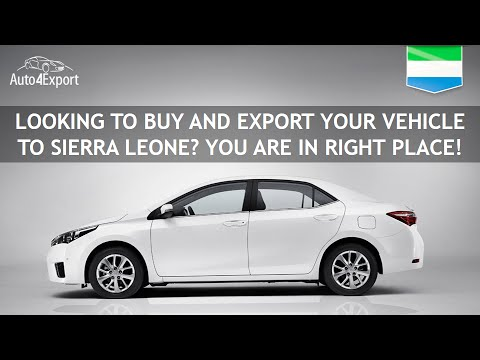 Shipping cars from USA to Sierra Leone - Auto4Export