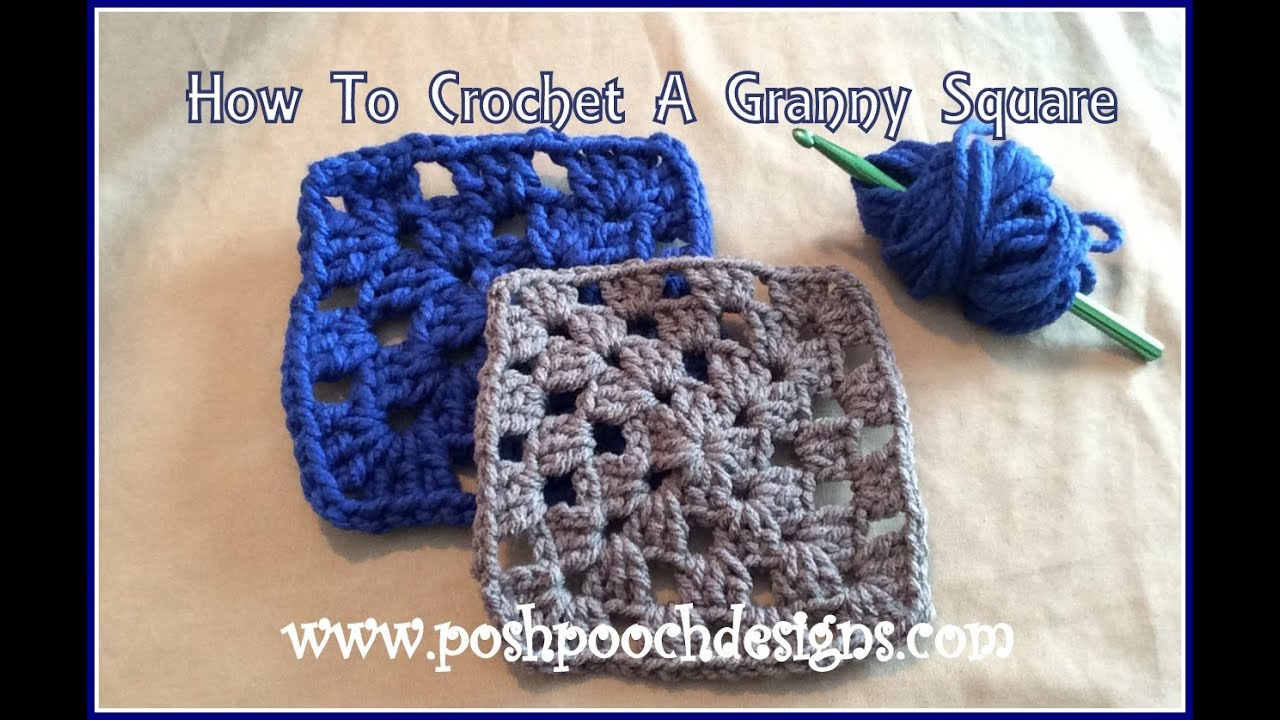 How To Crochet A Classic Granny Square Youtube
