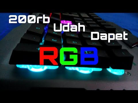 KEYBOARD NYK K-05 - ( UNBOXING + TEST 9 MODE RGB!!! ) - KEYBOARD RGB MURAH !!!