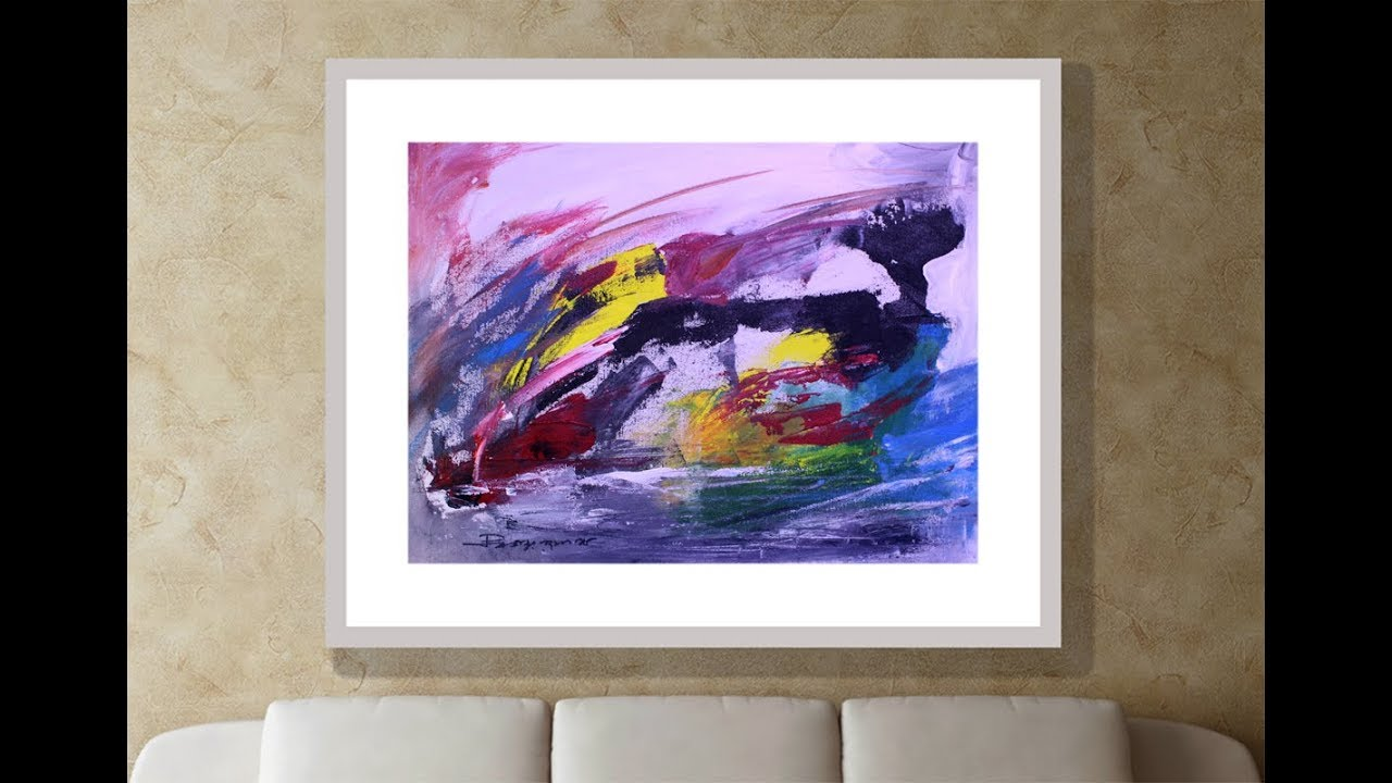Abstract Art By Offside Painting On Canvas Abstract Acrylic Painting On Canvas