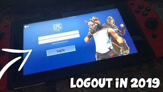 """HOW TO LOGOUT ON FORTNITE NINTENDO SWITCH IN 2019"" - CONNECT EPIC GAMES ACCOUNT TO SWITCH""!- EASY!"