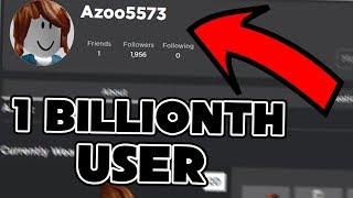 THE 1 BILLIONTH USER JOINS ROBLOX! | Ozzers Oz