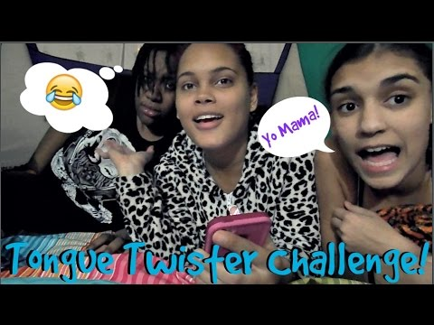 Tongue Twister Challenge | Yo Mama Jokes
