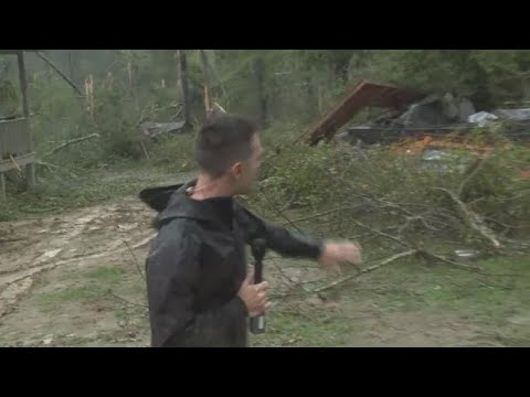Tornado touches down in Roberta, Georgia in Crawford County