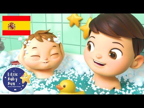 Canciones Infantiles | La Canci贸n del Ba帽o | Dibujos Animados | Little Baby Bum en Espa帽ol