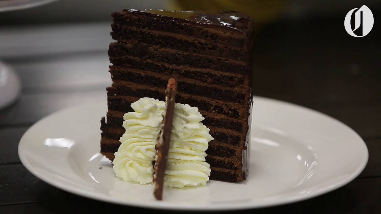 We tried Michael Jordans 23layer chocolate cake YouTube