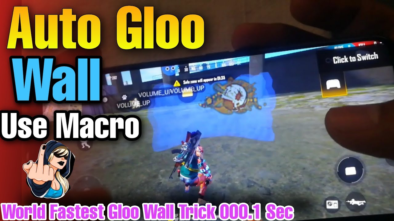 Auto Gloo Wall Trick Free Fire🔥 Make Gloo Wall With VolumeUp Button - Use Macro Gloo Wall In Mobail