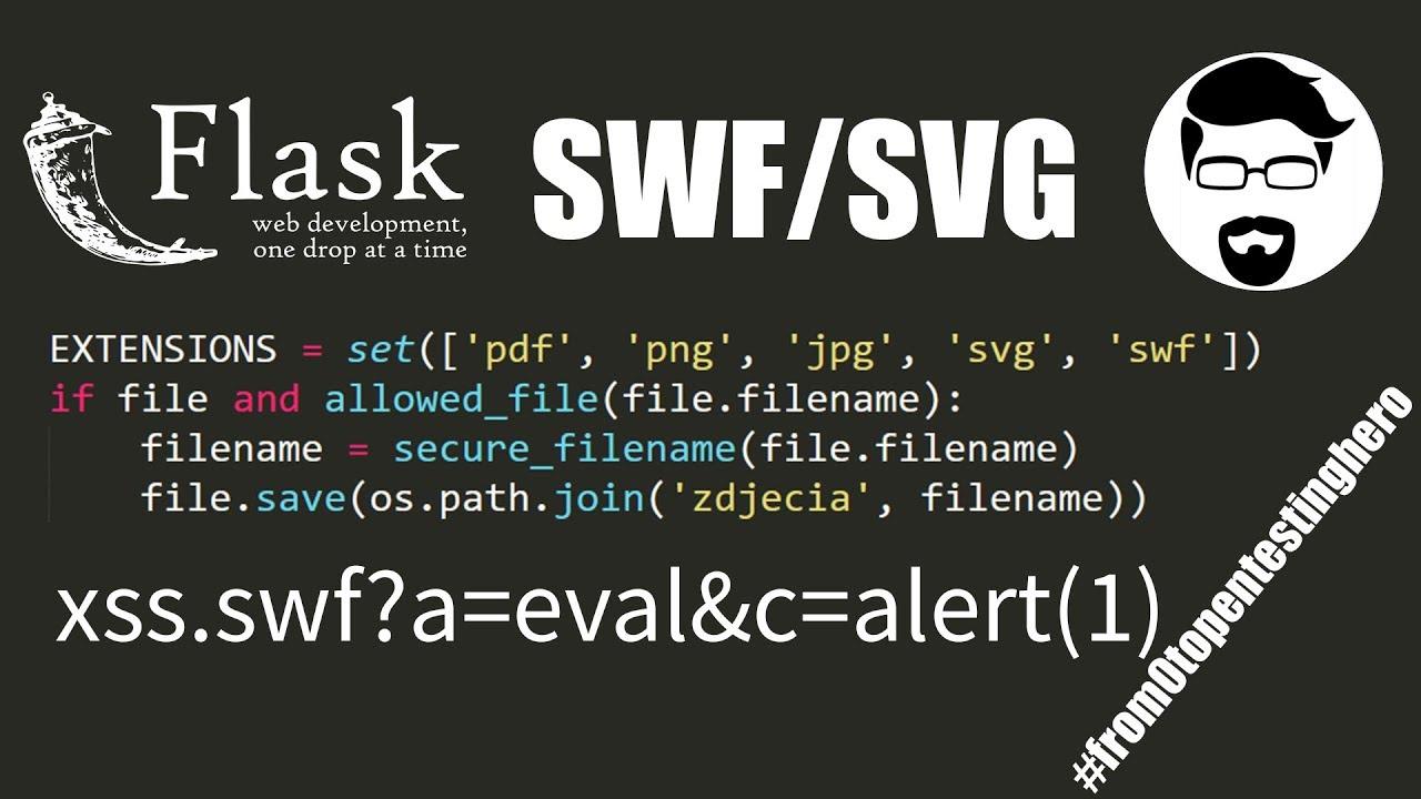 Python Xss Using Svg File