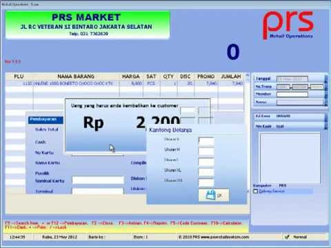 Demo live software Retail Operations - Kasir