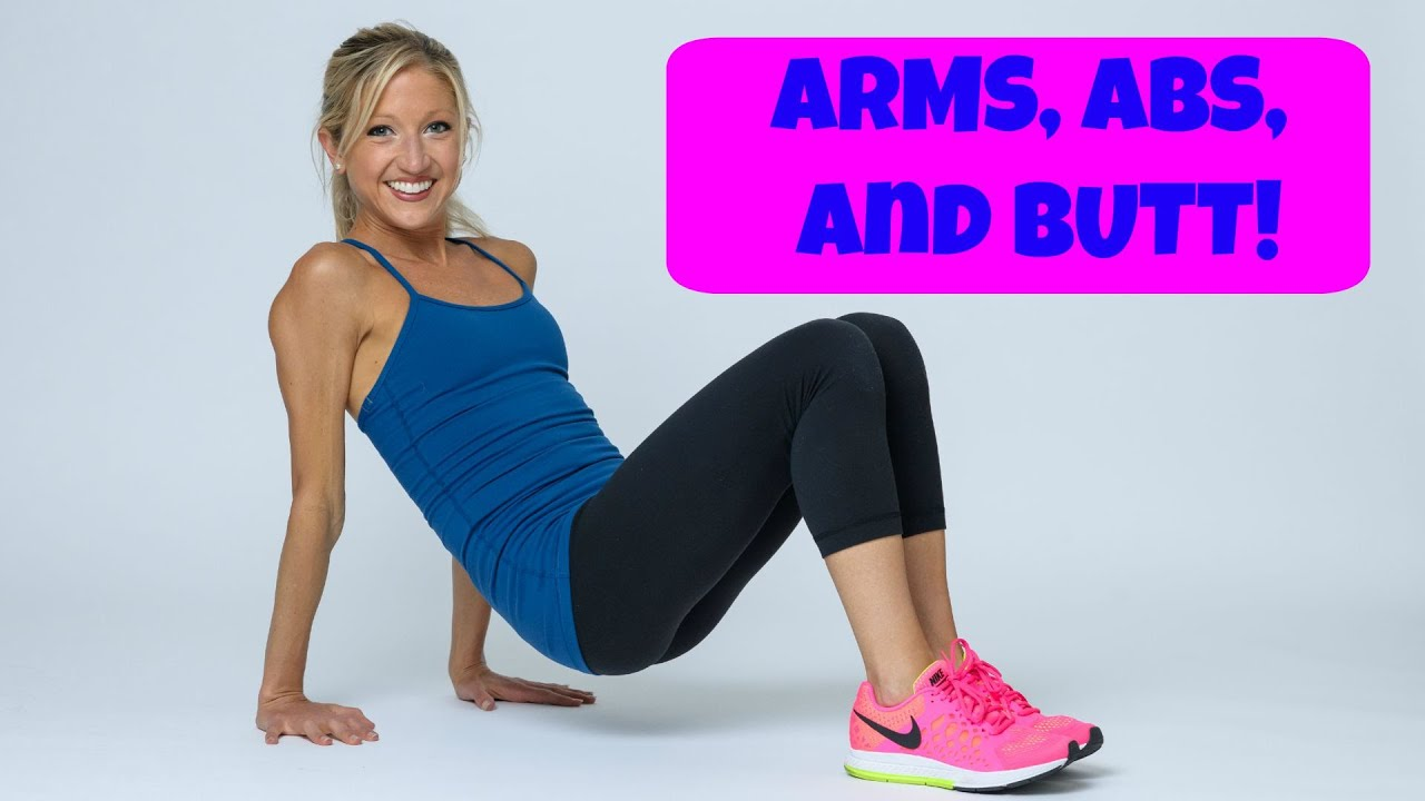 Arms Abs And Butt Circuit 16 Minute Total Body Home Exercise Routine