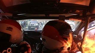 FIA ERC GEKO Ypres Rally 2014 - Fire On Board