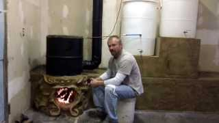 Bulldog Rocket Stove Fireplace Thermal Siphon Water Heater part 6