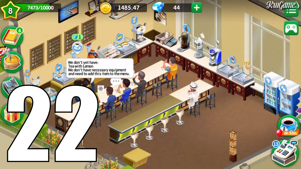 my cafe recipes stories android gameplay 22 level 8 youtube. Black Bedroom Furniture Sets. Home Design Ideas