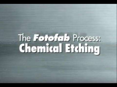 Fotofab Metal Etching: Chemical Etching Process