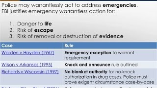 Exigent Circumstance For Police - Immediate Action Required Totality Of Circumstances