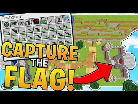 MINECRAFT CAPTURE THE FLAG WITH TECH GUNS!? MINECRAFT MODDED MINI GAME!