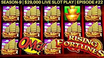 Rising Fortunes Slot Machine Huge Win   Buffalo Gold Slot 14 Gold Head & Big Win   SE 9   EP #22