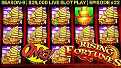 Rising Fortunes Slot Machine Huge Win | Buffalo Gold Slot 14 Gold Head & Big Win | SE 9 | EP #22
