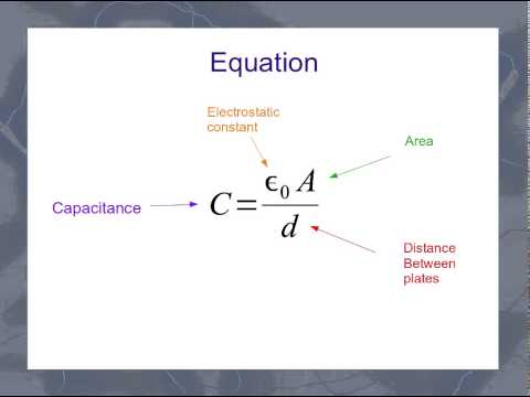 The Parallel Plate Capacitor Equation