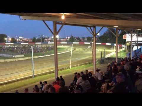 USAC Sprint Car Heat Race - Terre Haute Action Track - 10/15/16