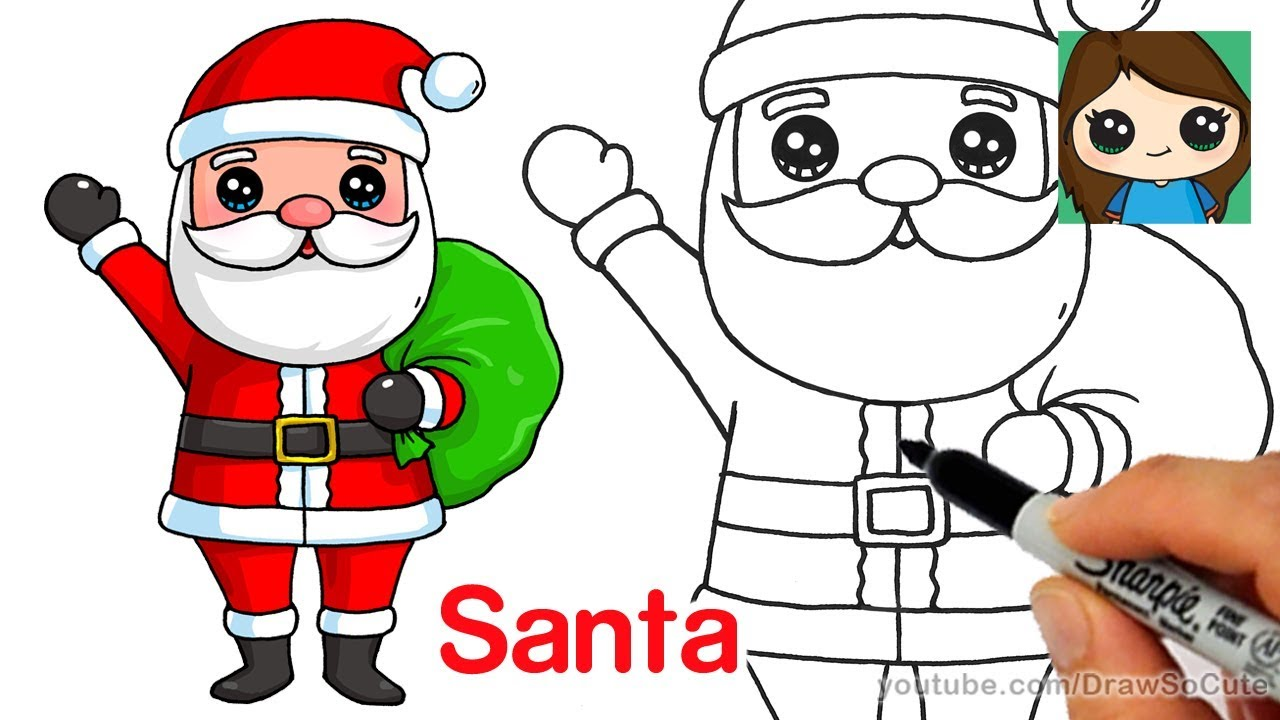 Download Santa Claus Drawing Step By Step