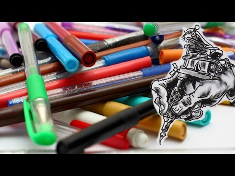 Pen Inks And Markers You Can Tattoo With Youtube