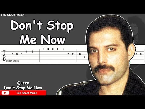 Queen - Don't Stop Me Now Guitar Tutorial