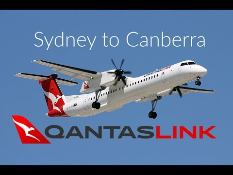 Qantaslink Q400 | Sydney To Canberra
