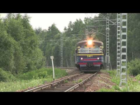 Прыжки электропоезд ЭР2 / Jumping ER2 EMU