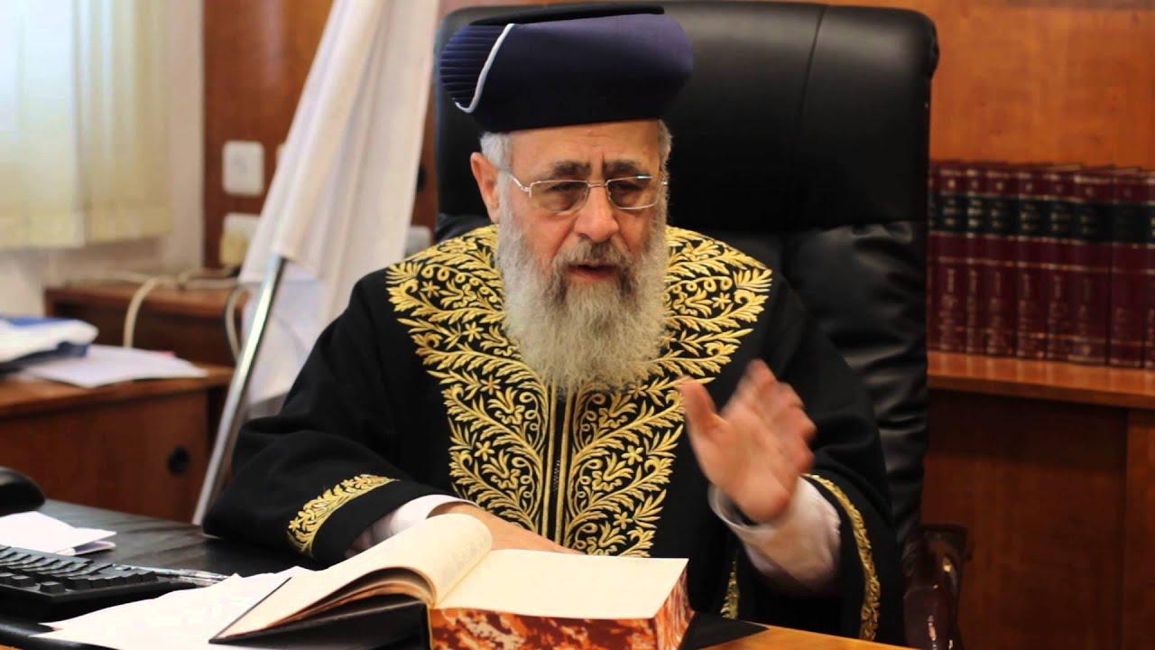 """Gran Rabino sefardí: """"Mantengan a los niños lejos de las familias seculares"""""""