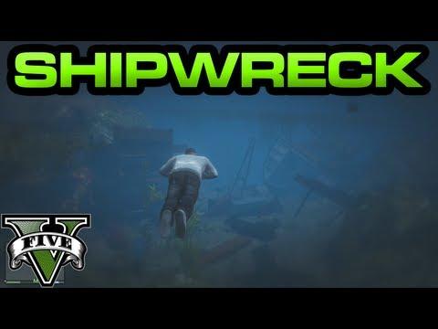 GTA V - Shipwreck with Treasure!