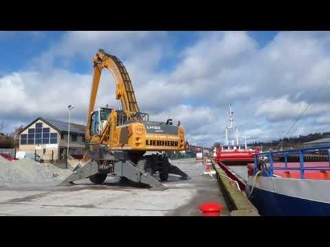 Loading Baryte EEMS Coast Cargo Ship Harbour Perth Perthshire Scotland