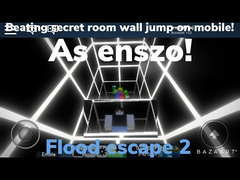Roblox Flood Escape Secret Wall Get 5 000 Robux For Beating The Secret Room Wall Jump On Mobile As Enszo Roblox Fe2 Youtube