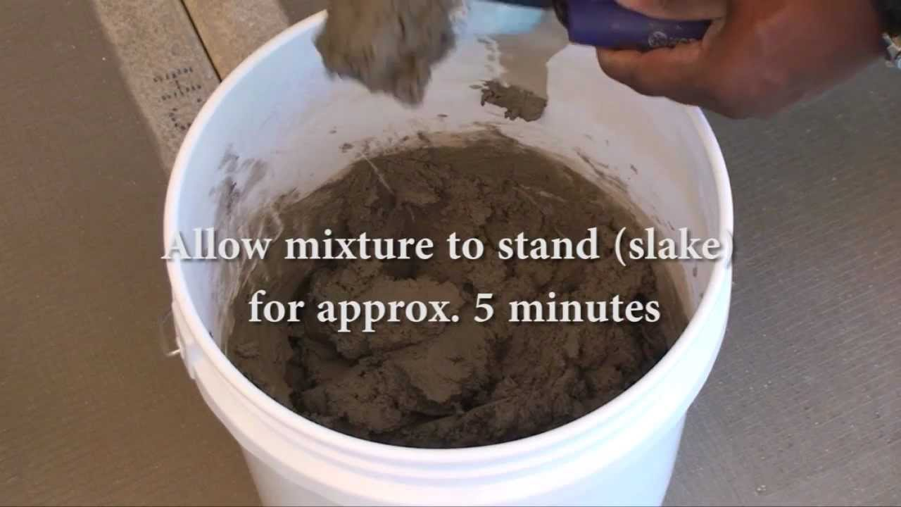 Permacolor Grout Mixing