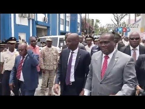 Vizit sipriz Prezidan Jovenel Moise nan Komisarya K-FOU ak Petionvil. Jovenel sezi yo gen kabann