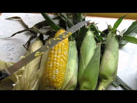Make Best Way to Cut Corn off the Cob, Quick and Easy! (START at 2:00 min. mark) Images