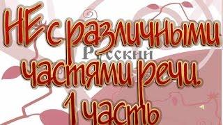 Русский язык 10 класс. НЕ с различными частями речи