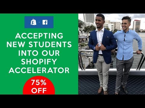 ACCEPTING NEW STUDENTS! Get 75% Off Our Shopify Accelerator Course