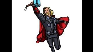 Como desenhar o Thor -  How to draw Thor - Cómo dibujar Thor