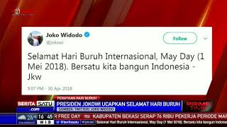 Jokowi Ucapkan Selamat Hari Buruh Internasional