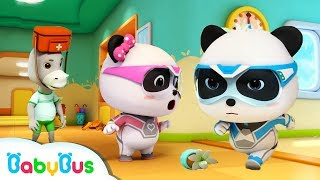 Super Panda's Earthquake Rescue | Play Safe | Kids Cartoon | Kids Videos | Baby Cartoon | BabyBus