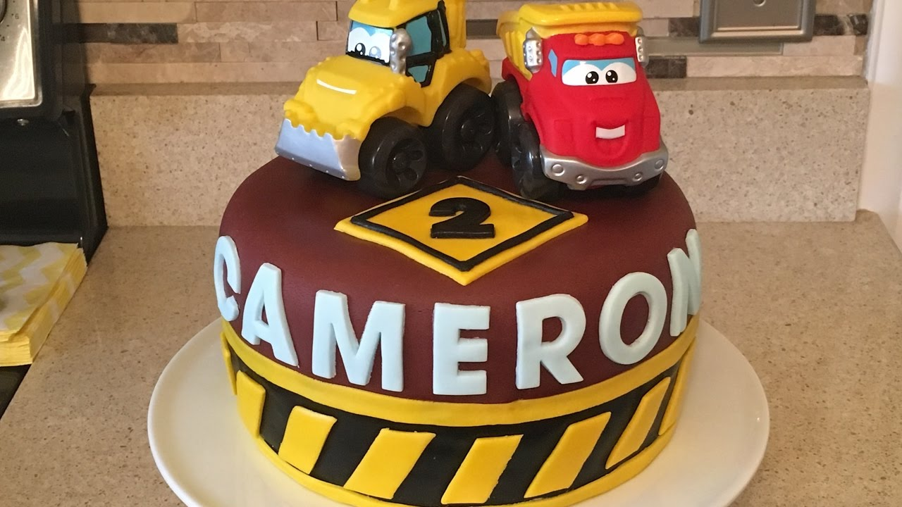 CONSTRUCTION CAKE | TUTORIAL | BIRTHDAY BOY IDEA | CARS - YouTube