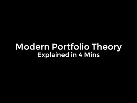 Modern Portfolio Theory - Explained in 4 Minutes