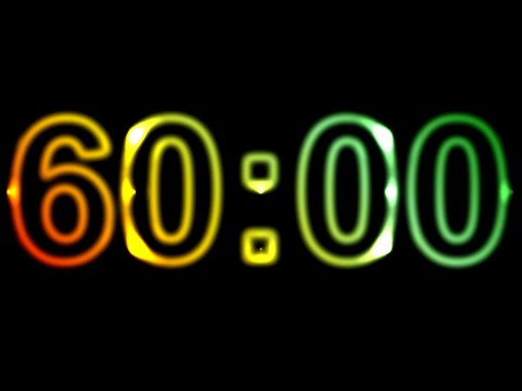 60 Minute Timer No Music with Alarm ⏰🔔 Countdown 1 Hour, 60 Minutes