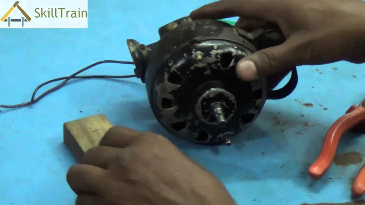 Repairing the Faults and Assembling a Table Fan (Hindi