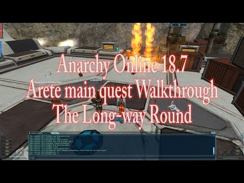 ANARCHY ONLINE 18.7 ARETE MAIN QUEST WALKTHROUGH (1080p60 Gameplay / Walkthrough)
