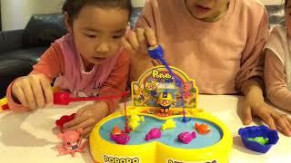 대결! 뽀로로 무빙낚시 대결. 뽀로로 낚시 pororo fishing toy battle